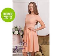 """Платье летнее """"Fleur"""" - креп шифон, в наличии 4 цветов, размеры 42-48"""