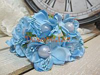 Цвет яблони с жемчужиной (голубой)