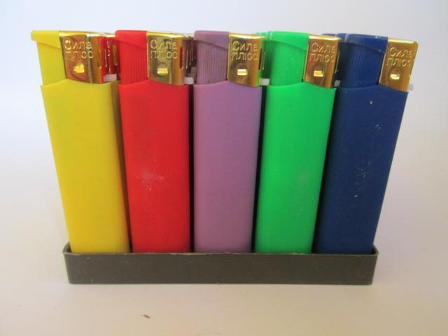 Зажигалка  Сила Плюс, резина  цветная