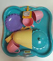 Детский набор посуды на подносе Wader