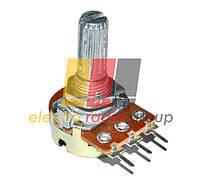 Резистор переменный WH148-1B-2 B   50кОм 6 pin прямой
