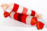 """Декоративная подушка-валик """"Большая конфетка"""" красная"""