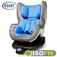 Автокресло (0+/1)0-4 года (0-18 кг) • Крепление IsoFix 4baby - Neo-Fix (6 цветов)Blue