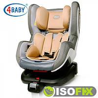 Детское Автокресло (0+/1)0-4 года(0-18 кг) • Крепление IsoFix 4baby - Neo-Fix (6 цветов)Beige