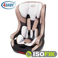 Детское Автокресло (1/2/3) возрастная группа 9 мес-11 лет (9-36 кг) • Крепление IsoFix 4baby - Sky-Fix (6цветов)Beige