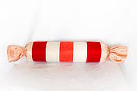 """Интерьерная декоративная подушка-валик """"Большая конфетка"""" розовая"""