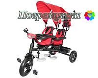 Детский трехколесный велосипед Crosser Twins Air - Красный