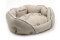 Лежак Природа Кантри 3, льняная ткань, 68х52х23 см