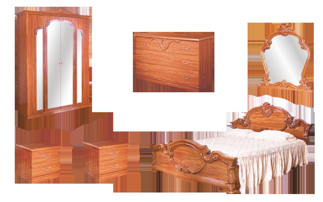 Спальня Барокко со шкафом 4Д