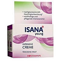 ISANA Young Intensive Creme 50 ml - Интенсивный увлажняющий крем для сухой кожи лица, 50 мл