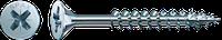 Саморізи Spax, Шліц Pz, неповна різьба, оцинкований, срібний