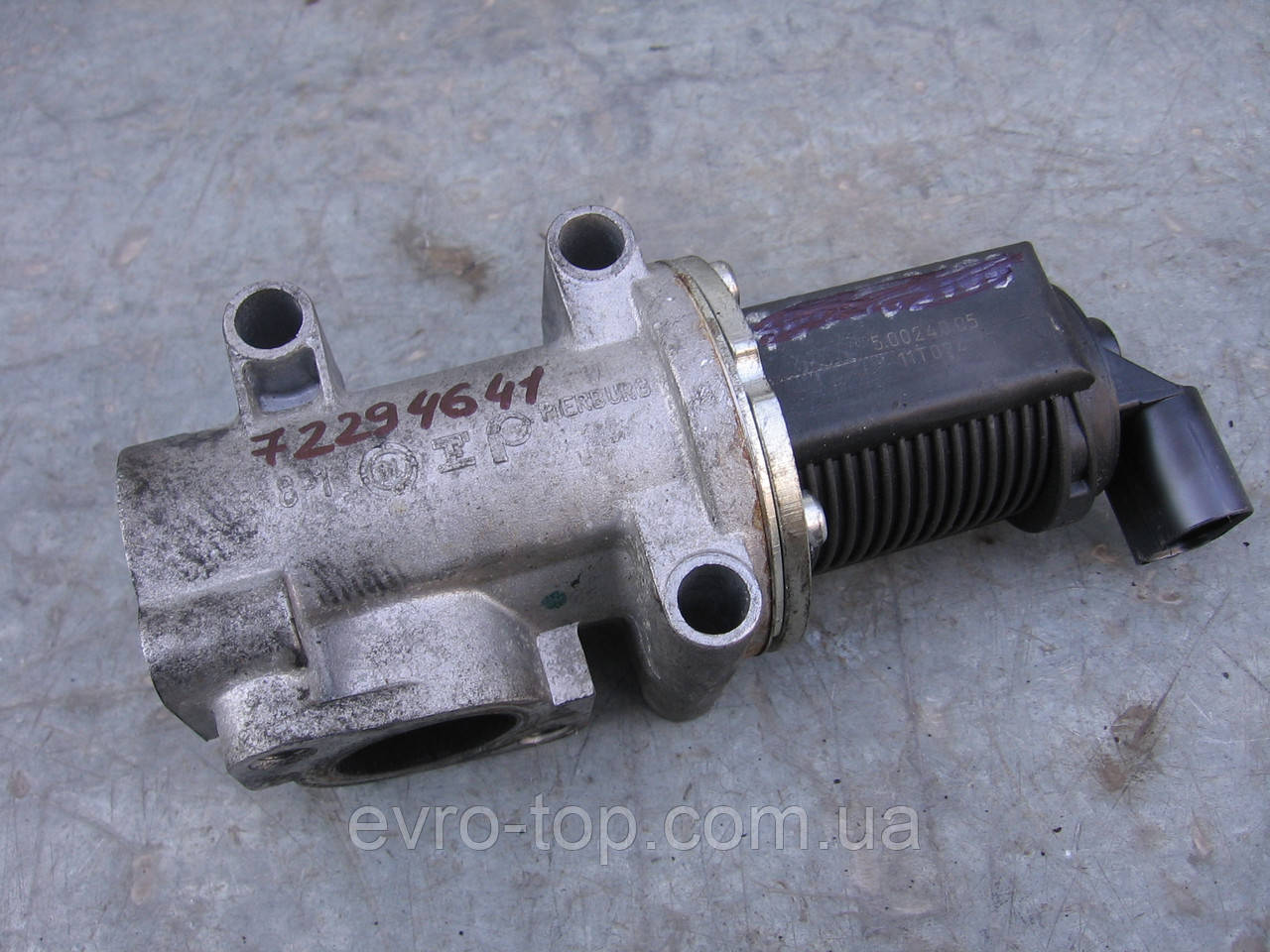 Клапан EGR 72294641 б/у 1.9cdti на Opel: Astra H, Signum, Vectra C, Zafira B  2004-2017 года