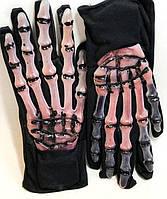 Карнавальные Резиновые Перчатки Скелет с Кровью Прикол для Вечеринки Маскарад