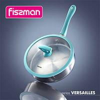 5398 Fissman Пательня VERSAILLES 24x6,5 см со стеклянной крышкой (нерж. сталь)