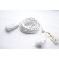 Поясок белый плетеный
