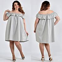 Платье-туника больших размеров 0501 серое