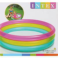 Детский бассейн Радуга Intex 57104, интекс 86х25 см