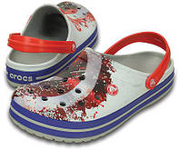 Кроксы мужские шлепанцы Крокбенд Капитан Америка Сабо оригинал / Crocs Crocband Avengers Clog