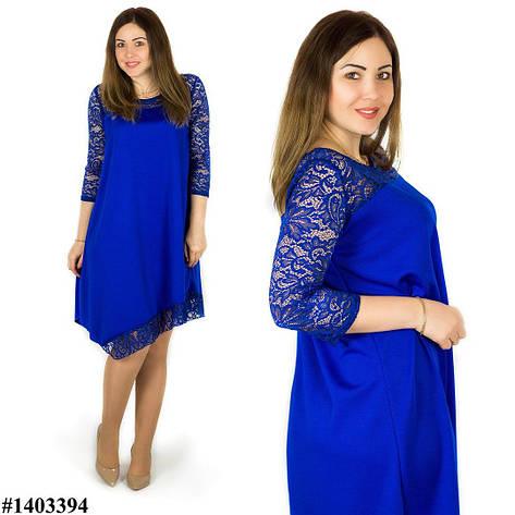 Платье электрик 1403394, большого размера , фото 2