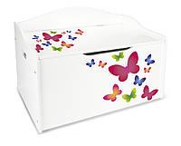 Комод-лавочка для игрушек бабочки