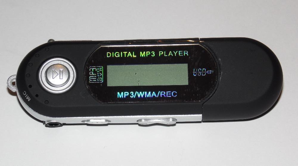 Mp3 плеер + FM радио + USB (на батарейке ААА) черный