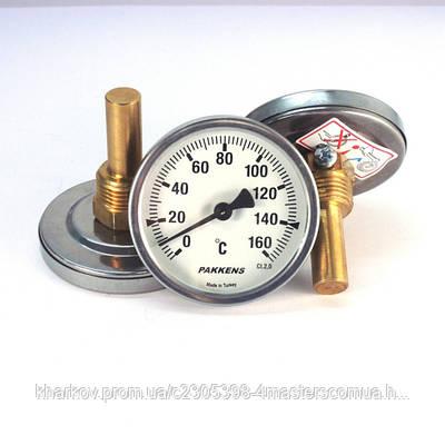 Термометр 0 160°С с погружной гильзой 5 см Ø63, Pakkens Турция