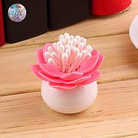Косметический контейнер для ватных палочек Лотос розовый