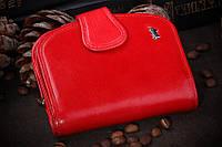 Кошелек Braun Buffel, красная ракушка, Натуральная Кожа