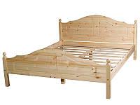 Кровать двуспальная из массива сосны.