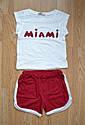 """Детский летний комплект """"Miami"""" (майка и шорты) для девочки (Няня, Украина), фото 3"""