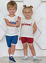 """Детский летний комплект """"Miami"""" (майка и шорты) для девочки (Няня, Украина), фото 2"""