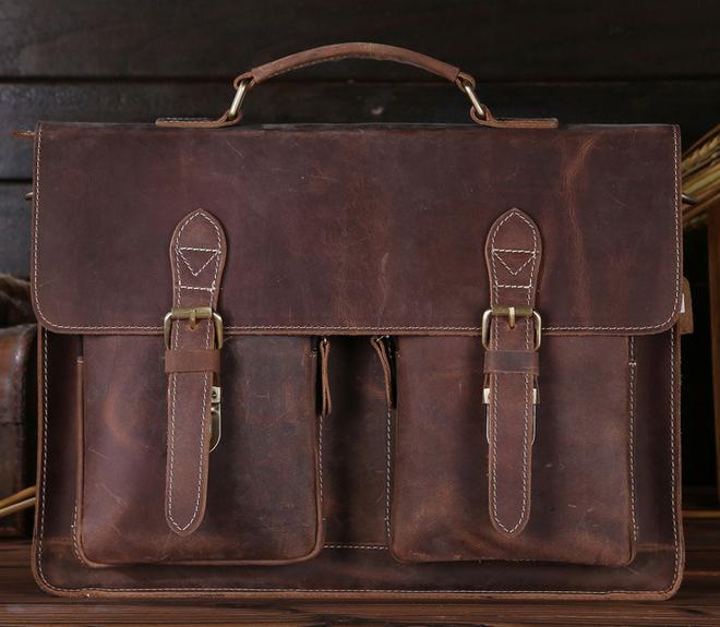 Мужской кожаный портфель Bexhill Bx1061B, коричневый