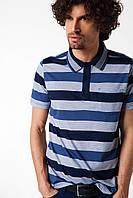 Мужское поло De Facto в сине-голубые полоски