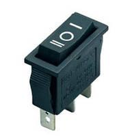 Переключатель клавишный узкий KCD-3-101 I-O-II