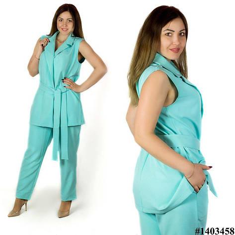 Голубой костюм 1403458, большого размера, фото 2
