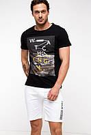 Мужская футболка De Facto черного цвета с картинкой на груди, фото 1