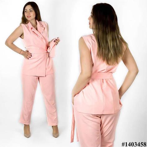 Персиковый костюм 1403458, большого размера, фото 2
