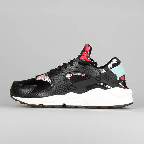 Кроссовки женские Nike Air Huarache Run Aloha Black, найк хуарачи, реплика