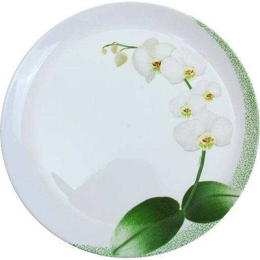White Orchid обеденная тарелка 25 см Luminarc