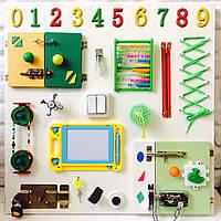 """Развивающая доска для детей """"Busy Board"""", по методики Монтессори, размер 60х60, материал ДСПламинированное"""