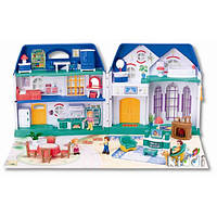 Детский кукольный домик Keenway 20132: 5 фигурок, мебель, музыка, коробка 75х48х17,5 см