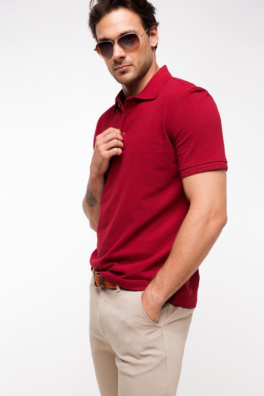 Мужское поло De Facto красного цвета
