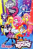 """Карты детские  """"My little pony rainbow rocks"""""""