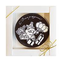 """Шоколадная открытка """" С днем рождения"""" М-2 17/211   Размер диаметр 80 мм,h=8,вес 49,6 гр"""