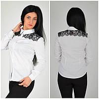 Красивая нарядная белая блуза с гипюром 42.44.46.48