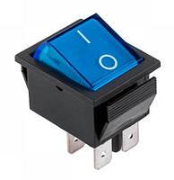 Выключатель IRS-201-1A PRK0006C клавишный широкий Синий
