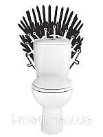 Виниловая наклейка Железный трон, фото 1