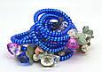 Резинка спираль силиконовая с цветами, фото 2