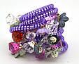 Резинка спираль силиконовая с цветами, фото 4