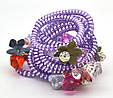 Резинка спираль силиконовая с цветами, фото 5